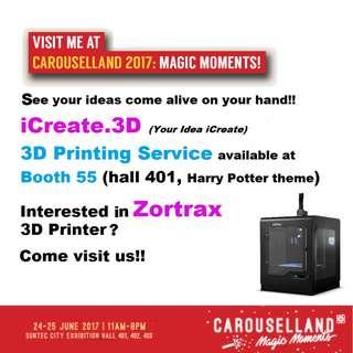 Carouselland: 3D printing and 3D printer