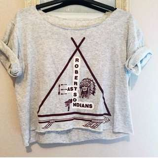 b24cb6516a Vintage Style 80s Baseball Cropped Tee