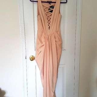 Peach Summer EVENTS Dress
