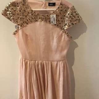 DOTTI ROSE BLUSH DRESS