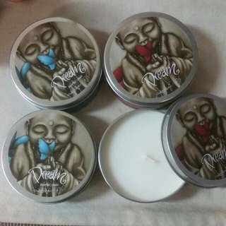 4 X Perfumed Travel Tin Candles