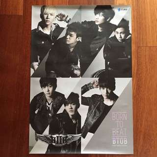 BTOB Born To Beat 76 x 52cm Extra Large Poster New Condition