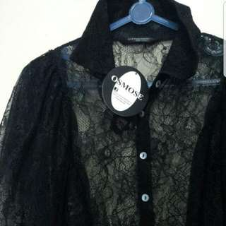 Brand New Osmose Black Lace Top (price Reduced)