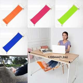 Hammock Footrest Chair Swing Gantungan Istirahat Kaki Bawah Meja Unik Portable Ayun Furniture Rumah Tangga Tahan Lama Modern Rileks Kantor