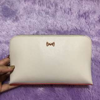 Authentic Ted Baker Pouch Tricolour In Safiano Leather