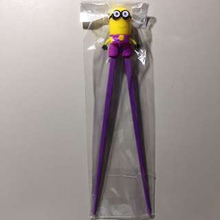 Free Shipping Despicable Me Minion Purple Chopsticks Brand New