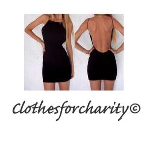 FREE POSTAGE backless Dress $10.00