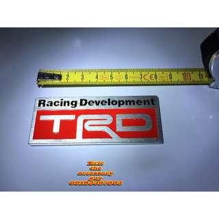 TRD Aluminum badge