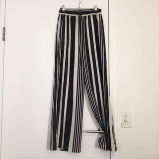 High Waisted Stripe Pants