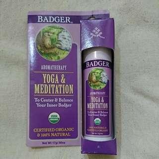 Badger aromatherapy : yoga & meditation
