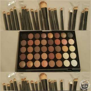 20pcs Brushes / 40 Eye Colour Shadow Pallete