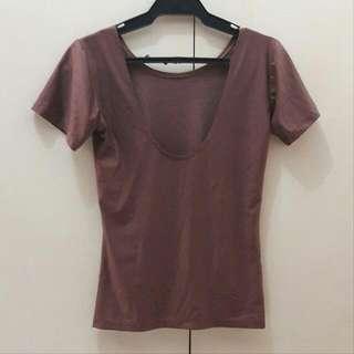 Low Back Satin Shirt