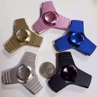 Fidget Spinner Metal Besi Three Sides