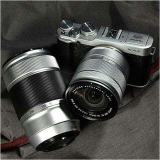 Fujifilm X-A2 Mirrorless Camera (Silver) With Two Lens