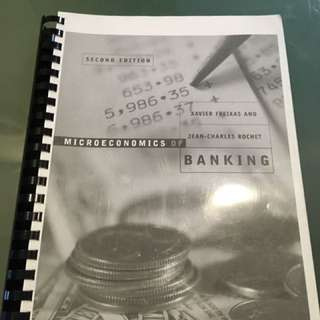 Microeconomics Of Banking By Xavier Freixas And Jean-Charles Rochet