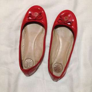 Tory red flatshoes