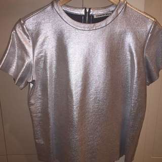 Country Road Foil Look Zip-back T-shirt