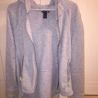 Grey H&M Sports Zip-up Jacket