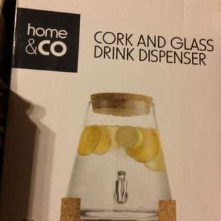 Cork And Glass Drink Dispenser