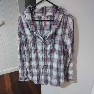 Roxy Plaid Long Sleeved Shirt