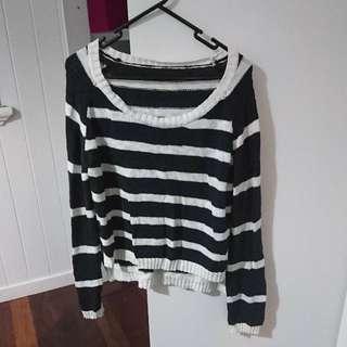 Striped Woollen Sweater Size 14