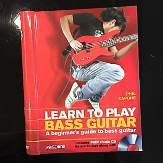 Brand New Bass Guitar Book With CD