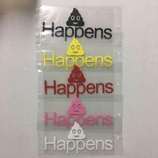 Stickers Size 13x6cm