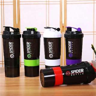 1pc Protein Shaker Blender Mixer bottle  Sports Fitness gym 3 Layers Multifunction 600ml #protein #bpafree #shaker #bottle #gym #fitness #health