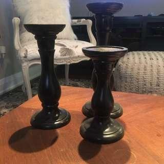 FREE - Set Of 3 Candlesticks