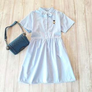 Cotton Cute Light Blue Dress