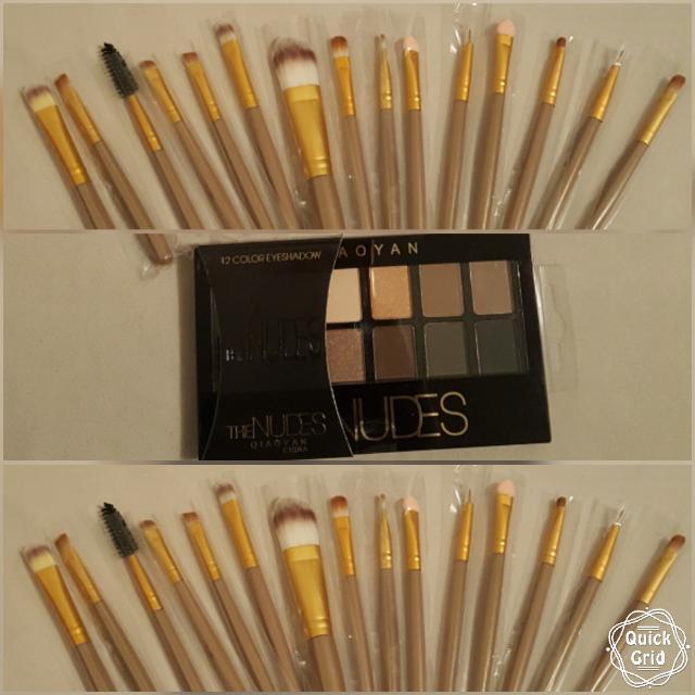 20pcs Brushes/ 40 Eye Colours Shadow Palette
