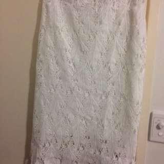 Whit Bodycon Skirt