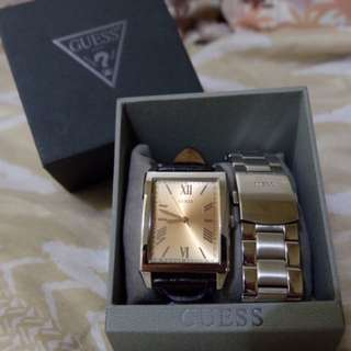 Guess Men's Watch (with Dual Changeable Straps)