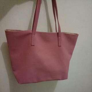 Tas Leather Pink
