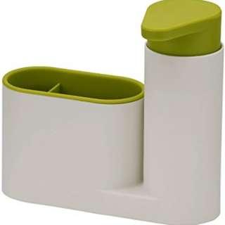 Sink Tidy Dispenser Sabun & Lotion Mudah Tekan Serbaguna Multifungsi Unik Kamar Mandi Organizer Wastafle Restoran Rumah Makan Cuci