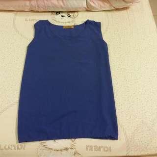 藍色雪紡上衣