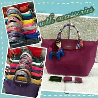 Authentic Longchamp With Accessories