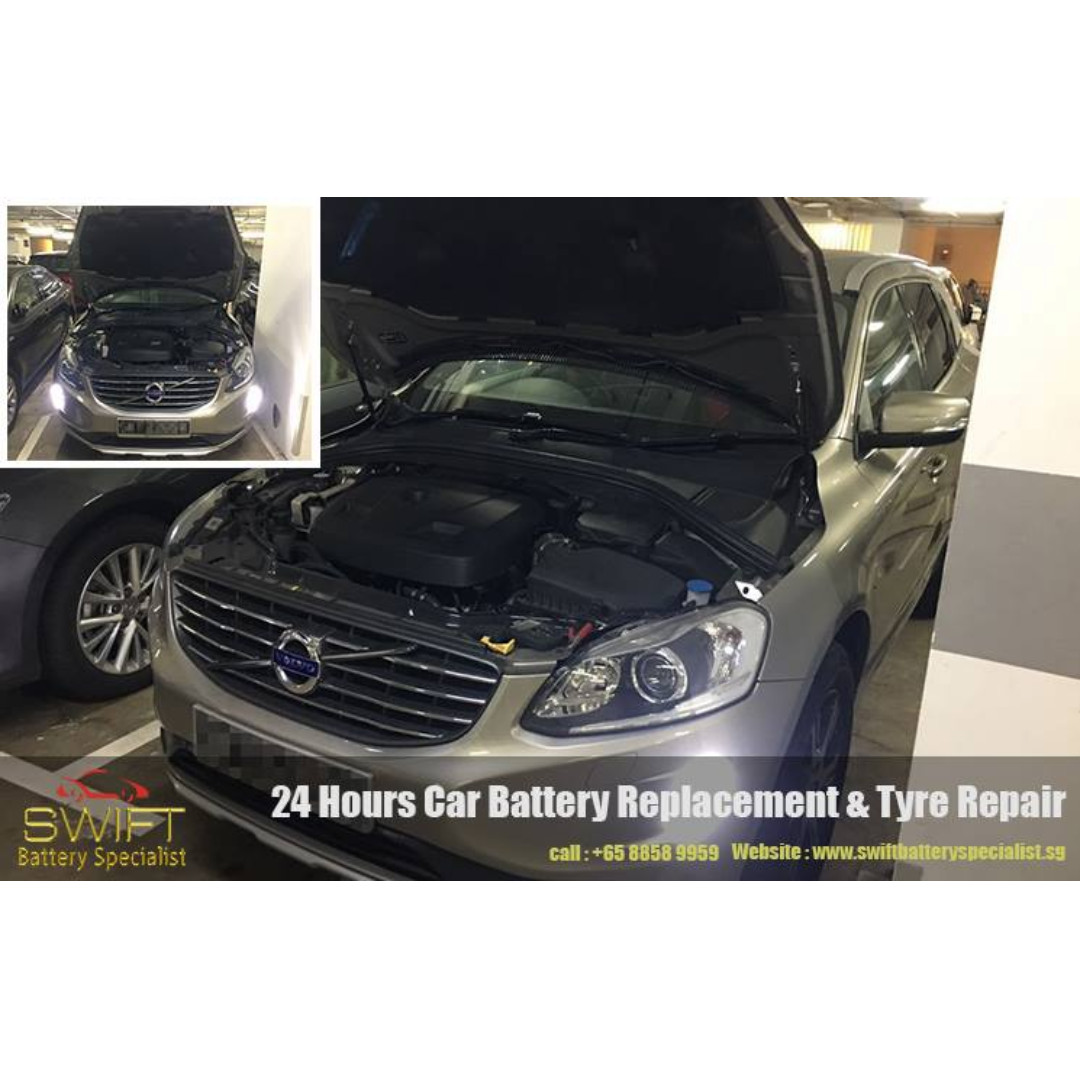 Onsite 24 Hours Singapore Car battery replacement Car Tyre Repair. Swift Battery Specialist, Call +65 8858 9959
