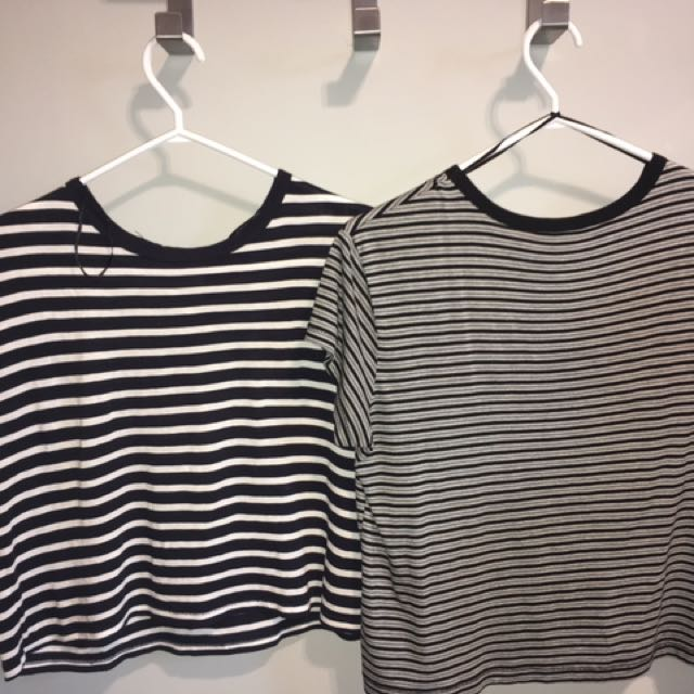 2 Striped H&M Tees