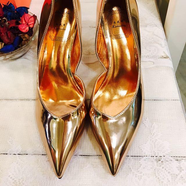 出清店面展示鞋 鏡面漆超美高跟鞋