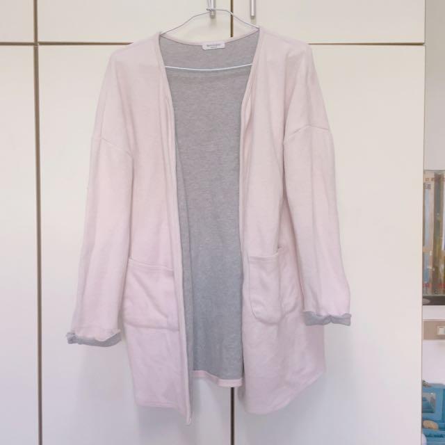 正韓 草莓牛奶 氣質優雅 粉色外套