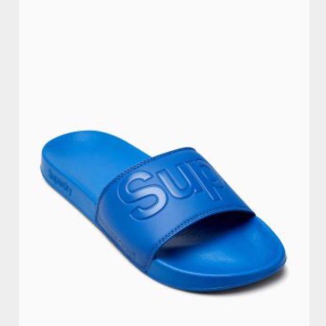 極端乾燥 Super dry 拖鞋 寶藍色