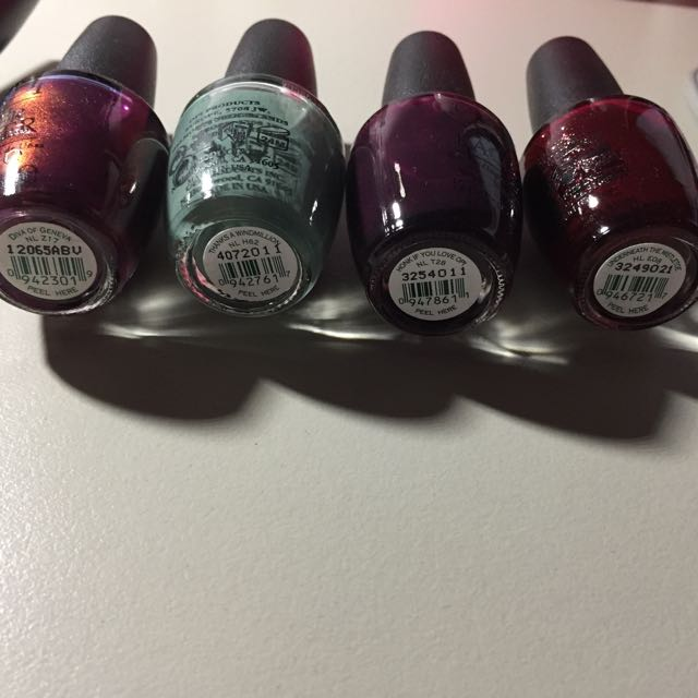Assorted Nail Polish - OPI, BYS, Revlon