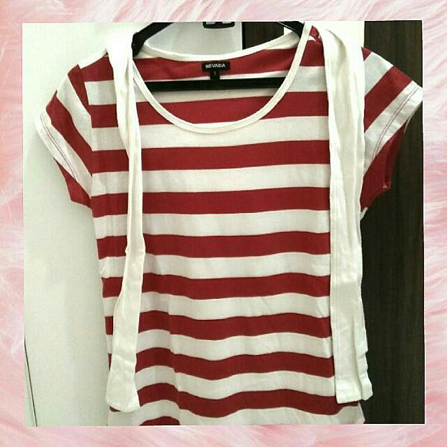 Atasan Red and White Strip