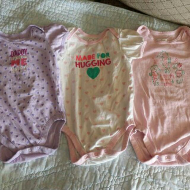 Baby Girl Bodysuits. 12-18 Mths