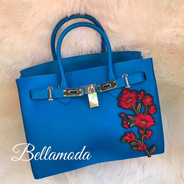Beachkin Matte Bag with Floral Patches