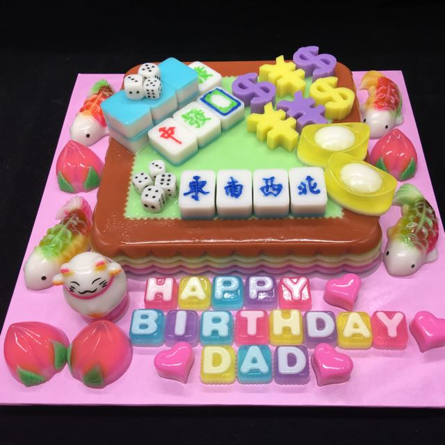 Birthday Mahjong Jelly Cake Bulletin Board Looking For On Carousell