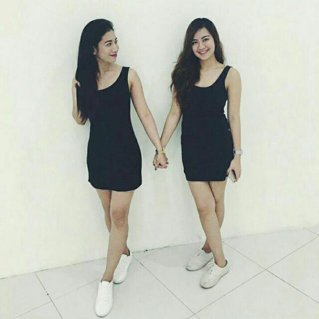 Black Plain Bodycon Dress