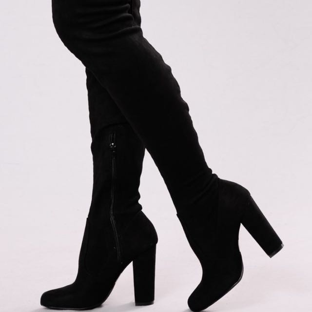 Black Thigh-high Boots