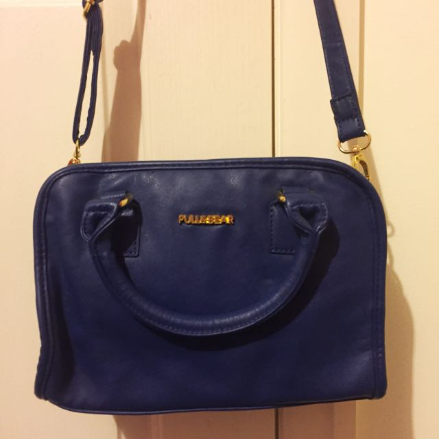 Blue And Gold Hand Bag/ Clutch/ Side Bag Pull&Bear Branded
